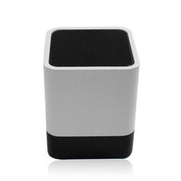 Wholesale Cheap Mini Clocks - 2017 wholesale and retail high quality cheap wireless gift Bluetooth speaker LED display clock alarm clock Bluetooth audio mini card small s