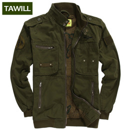 Wholesale Man S Jean Coat - Fall-TAWILL 2016 Military jean Army tactical bomber Men Jackets Coats Autumn Air force one Casual men's jacket Brand Clothing 331