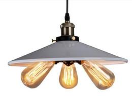 Wholesale Halogen Head Lights - Personality American Country led vintage pendant lighting Vintage RH Loft Warehouse Pendant Light 3 Heads Droplight Iron Art Lighting