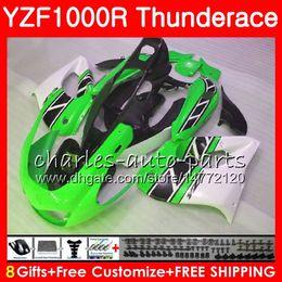 Wholesale Yzf Thunderace - Body For YAMAHA Thunderace green white YZF1000R 96 02 03 04 05 06 07 84NO47 YZF-1000R YZF 1000R 1996 2002 2003 2004 2005 2006 2007 Fairing
