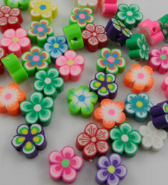 Wholesale Polymer Clay Flowers For Jewelry - 200Pcs Mixed Polymer Fimo Clay Flower Spacer Beads For Jewelry Making 10x5mm
