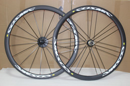 Wholesale Carbon Road Bikes Wheelset - road bikes carbon wheelset 700c 38mm carbon clincher wheels for road bicycle novatec hubs 271 372 25mm wide road bike