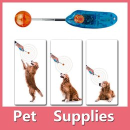Wholesale Free Puppy Supplies - Hot Sales Pet Supplies Dog Cat Puppy Click Clicker With Ball Training Obedience Trainer Aid Tools Plastic Mixed Colors DHL Free 161012