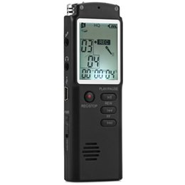 Wholesale Display Lcd Lines - Rechargeable Digital Voice Recorder 8GB LCD Display Line-in Telephone Recorder Portable Audio Recorder Dictaphone Pen with MP3 Player