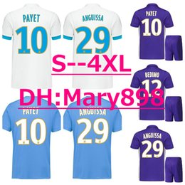 Wholesale Marseille Football Jersey - Top Thai quality 17 18 Marseille White blue Purple soccer jersey 2017 2018 PAYET THAUVIN GERMAIN L.GUSTAVO RAMI CABELLA football shirt
