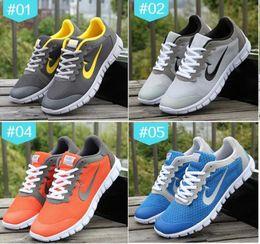 Wholesale Sport Light Sale - 2016 New Lightweight Black Orange Dark Grey Blue Light Tan No Breathable Shoes Mens Casual Men Sneakers Adult Sports Hot Sale Promotional