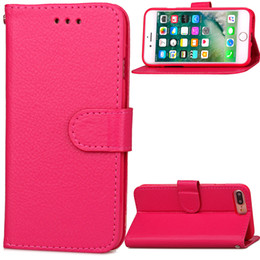 Wholesale Leather Folio Wallet - Wallet Leather Case For iPhone 7 Plus 6 6S Samsung S8 Plus S7 S6 edge A9 PU + TPU Pouch Soft Folio Flip Cover