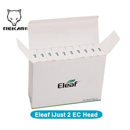 Wholesale Ec Pen - Top Quality Eleaf iJust 2 EC Head Melo Coil 0.3ohm 0.5ohm Replacement dual coil for iJust2 Vape Pen melo tank vaporizer