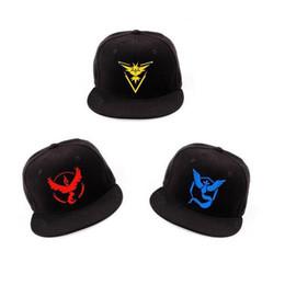 Wholesale Free Multi Games - Cosplay Mobile game mon Poke Go Team Valor Team Mystic Team Instinct snapback baseball Cap hat