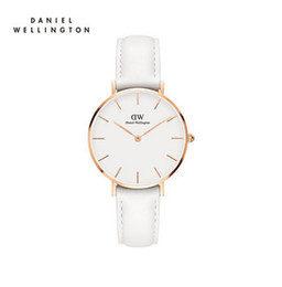 Argentina 2017 Reloj de marca de moda de lujo superior Moda femenina de cuero estilo 32 mm de oro rosa DW Watch Company Relogio mujeres reloj de pulsera de reloj mujeres woman style waterproof watch for sale Suministro