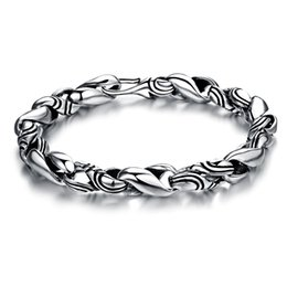 Wholesale 925 Thailand Bracelet - The new hand decorated Thailand imported pure handmade S type silver bracelet domineering man 925 Sterling Silver N340