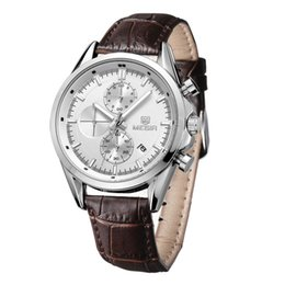 Wholesale Vintage Army Watch - Male Watches MEGIR Brand Classic Vintage Men's Watch Waterproof Leather Strap Sport Quartz Army Watch relogio masculino