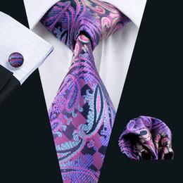 Wholesale Groom Tie Cravat - Formal Purple Ties for Men's Suits Business Wide Floral Neck Tie Groom Wedding Casual Tie Cravat N-0638
