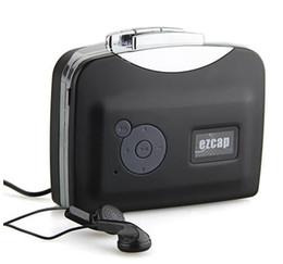 Wholesale Usb Audio Capture Cassette - Portable USB Cassette Tape to PC MP3 Converter Capture Cassette Stereo Audio Player Recorder Free Driver Without PC