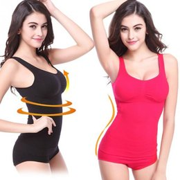 Wholesale Corset Polka - 2017 Comfortable Up Lift Bra Shaper tops Body Shaping Camisole Corset Waist Slimming shapers Super Thin Seamless Tank tops