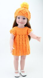 Wholesale 18 Inch Dolls Brown Hair - 18 inch Adorable Girl Doll Similar As American Girl Brown Hair Toys Handmade Hat Dress Clothes Gift Boxed By NPK DOLL