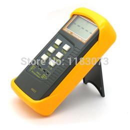 Wholesale K Type Thermocouple Thermometer - Industrial K-Type Thermocouple Digital Thermometer 2 Channel Sensors & Probe BGA Rework HVAC 1300 C 20pcs lot Free Shipping