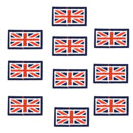 Wholesale Iron Patches Flags - 10PCS flag badge embroidery patches for clothing applique iron on patches sewing accessories badge stickers on clothes iron-on patch DIY