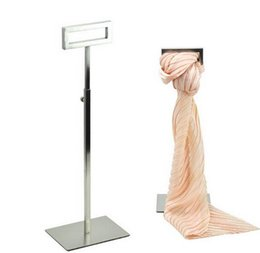 Wholesale Clothes Fixtures - Clothing props Top dressing store fixture Stainless metal scarves necktie holder desktop rack scarves holder rack