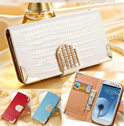 Wholesale Bling Phone Wallets - Luxuru Rhinestone Leather Case For iphone 5 5S 6s Luxury Wallet Shining Crystal Bling Flip PU Leather Case Cover Phone Bag Protective