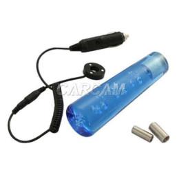 Wholesale Blue Shift Light - Universal 15cm Bubble Crystal Gear Shift Knob Auto Car Shifter Stick Lever With White LED Light Purple Blue Red Purple