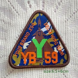 Wholesale Delta Wing - Delta Wing Team YB 59 Sew On Patch Shirt Trousers Vest Coat Skirt Bag Kids Gift Baby Decoration