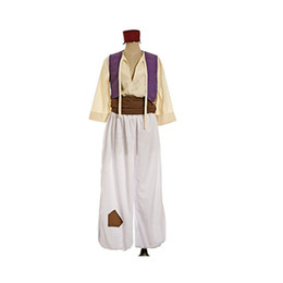 Wholesale japanese costume male - Inspired by Cosplay Aladdin Anime Costumes Cosplay Suits Geometic Vintage Long Sleeves Vest Belt Hats More Accessories Hakama