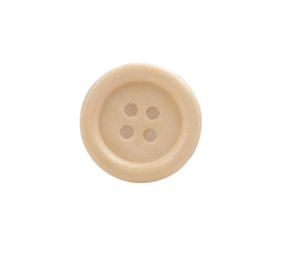 Wholesale Sewing Buttons 18mm - New Fashion 150PCS Yellow Wooden Button Beads 18mm Sewing DIY