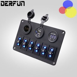 Wholesale Marine Switch Waterproof - Top Quality 6 Gang Waterproof Car Auto Boat Marine LED Rocker Switch Panel Circuit Breakers