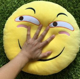 Wholesale Hand Embroidered Cushions - 40*40 funny expression pillow warm hand in pillow face fear drunby good comic spoof laugh plush toys doughnut Cushion for child
