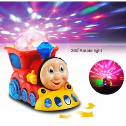 Wholesale Thomas Train Toy Plastic - Classic toys and Friends Train With Light and Music Electric Car Toy Diecast Kids Thomas Trackmaster Come With Retail Box