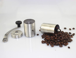 Wholesale Coffee Grinder Free Shipping - Coffee Bean Mills Grinder Manual Portable Kitchen Grinding Tools Stainless Steel Perfumery Cafe Bar Handmade Support OEM Free Shipping