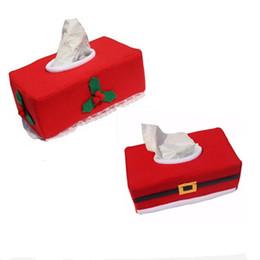 Wholesale Christmas Tissue Box Cover - Merry Christmas Tissue Box Cover Christmas Decorations For Home New Year Napkin Holder Christmas Decoration Supplies TT206