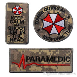 Wholesale Resident Evil Umbrella Corporation - VP-106 3D Embroidered patches Full set Resident Evil Umbrella Corporation Logo Zombie Outbreak Tactical 3D Patch Combat Badge Armband Badges