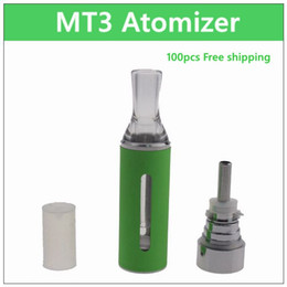 Wholesale Tank For Cigarette Electronic - MT3 ecig atomizer - DHL 100PCs. 2.4ml coil replaceable electronic cigarette atomizer rebuildable coil clearomizer tank for ego battery