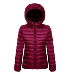 Wholesale Women Light Hoodies - Women Ultra Light Down Jacket Hoodie Winter Coat Women Portable Parka Jackets Customized casaco de inverno parkas mujer