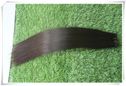 """Wholesale 18 22 Hand Tied Weft - High Quality Hand Tied Virgin Hair Weaves, 7A Hand-Woven Hair Shade 100% Brazilian Virgin Human Hair Straight 10-30"""" 100g package,"""