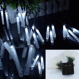 New Solar Power Waterproof 20 lumières LED Ice Piton Shape Decor Xmas Party Wedding LED New Year Light Led Icicle météore ordre de douche $ 18Personne tr ? partir de fabricateur