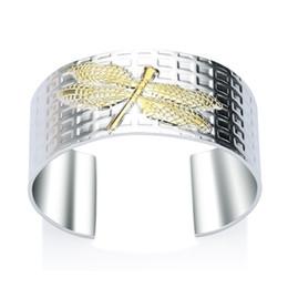 2019 925 pulseras de libélula Fábrica al por mayor de plata de ley 925 pulsera brazaletes de color de moda Libélula pulsera de plata grande de la joyería rebajas 925 pulseras de libélula
