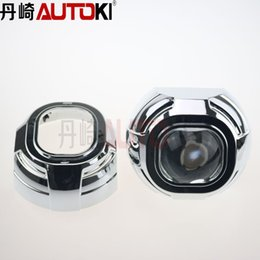 Wholesale D3s Hid - 3.0 HID Bi-xenon Projector Lens Koito Q5 Square with Projector Cover 2PCS for Headlight Use D1S D2S D2H D3S D4S Xenon Lamp