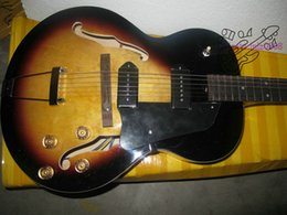 Wholesale Jazz Pickups - Wholesale guitars new Sunburst Vintage 137 classic Jazz Guitar P 90 pickups OEM Free shipping