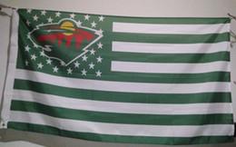 Wholesale Hockey Banner - Minnesota Wild Flag 90 x 150 cm Polyester Hockey Stars And Stripes Banner