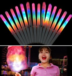 Wholesale fedex toys - New 28*1.75CM Colorful LED Light Stick Flash Glow Cotton Candy Stick For Vocal Concerts Night Parties Fedex DHL Free
