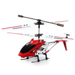 Wholesale Brushless Electric Rc - Syma S107G Original 3.5CH Mini Drones Indoor Co-Axial Metal xiaomi drone RC Helicopter Built in Gyroscope Remote Control Toys
