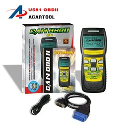 Wholesale Obdii Can Code Scanner - 2015 100% Original U581 code scanner u581 code readers Universal Diagnostic Tool Memoscan U581 CAN OBDII EOBDII Reader Support