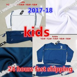 Wholesale Sets Kids Sweatshirts - Top quality Children's jacket set HIGUAIN kids tracksuit 2017 2018 MARCHISIO MANDZUKIC DYBALA 17 18 youth tracksuit jacketS Sweatshirt