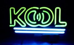 "Wholesale Business Advertising Signs - KOOL Cigarettes Custom Neon Sign Commercial Handmade Real Glass Tube Neon Signs Store Company Shop Business Advertised Display 17""X10"""
