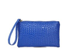 Wholesale Document Protector - Blue Passport Cover PU Leather 19*11cm ID Holders Documents Bag Alligator Wallet Embossing Passport Holder Protector TOP1324