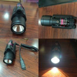 Wholesale Shotgun Laser Mounts - Tactical Red Laser Sight & LED Flash Light Combo - Rifle Shotgun 20mm Rail Mount