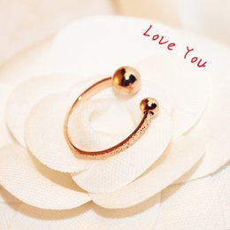 Wholesale Costume Rose Gold Ring - Open Adjustable Rings for Women Rose Gold Plated Charms Rings Fashion Punk Jewelry Vintage Accessories Costume Bijoux